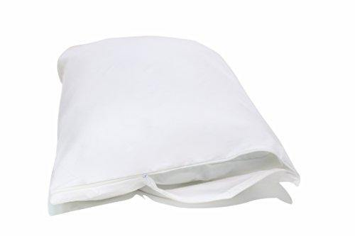National Allergy 2 Pack Allergy and Bed Bug Proof Pillow Cover, Standard, White - PHUNUZ