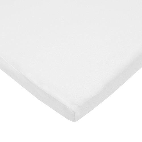 American Baby Company 100% Natural Cotton Supreme Jersey Knit Fitted Cradle Sheet, White, Soft Breathable, for Boys and Girls - PHUNUZ
