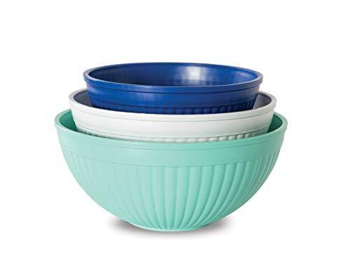 Nordic Ware Prep & Serve Mixing Bowl Set, 3-pc, Set of 3, Coastal Colors - PHUNUZ