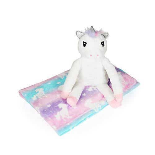 Unicorn Pillow & Plush Unicorn Throw Blanket Set for Kids – Butter Soft Unicorn Girls Sleeping Set - PHUNUZ