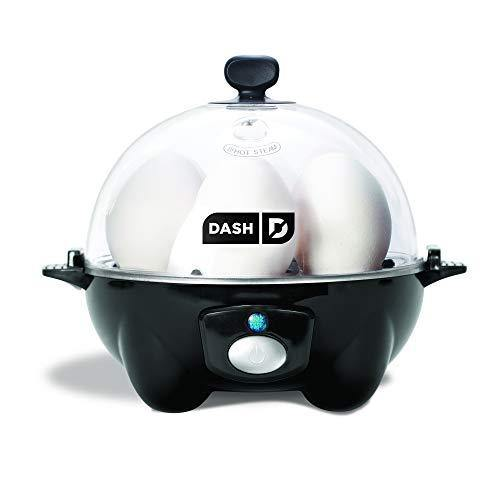 DASH black Rapid 6 Capacity Electric Cooker for Hard Boiled, Poached, Scrambled Eggs, or Omelets with Auto Shut Off Feature, One Size - PHUNUZ