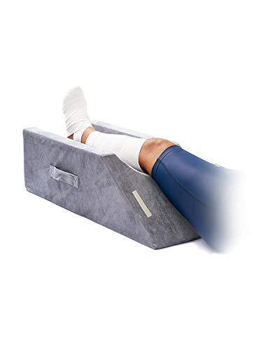LightEase Memory Foam Leg Support and Elevation Pillow w/Dual Handles for Surgery, Injury, or Rest - PHUNUZ