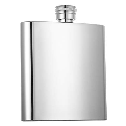 HIDORAN 6oz Hip Flask Stainless Steel Pocket Container for Drinking Liquor Whiskey Rum Scotch Vodka