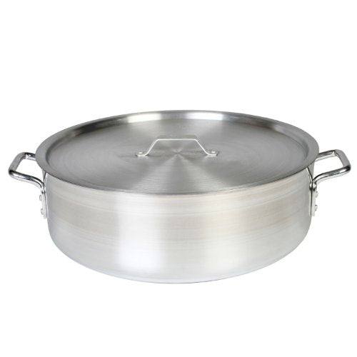 Thunder Group 20 Quart Aluminum Braiser with Lid