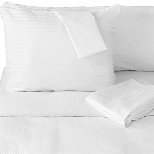 FeelAtHome 100% Cotton Pillow Protector with Zipper Waterproof Covers (Pack of 2, Queen) - Noiseless, Anti Bed Bug & Dustmite Pillowcase Encasement - Hypoallergenic Zippered Pillow Case Protectors - PHUNUZ