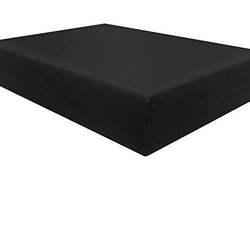 NTBAY Microfiber Full Fitted Sheet, Wrinkle, Fade, Stain Resistant Deep Pocket Bed Sheet, Black - PHUNUZ