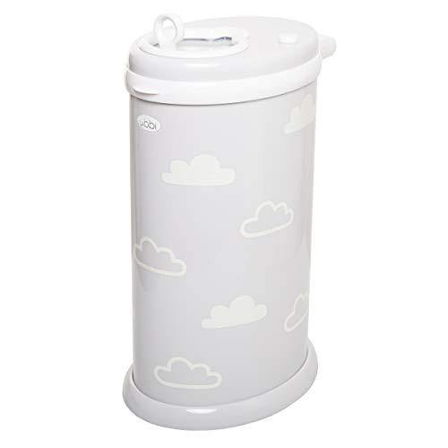 Ubbi Glow-in-The-Dark Cloud Peel and Stick Decal Stickers, Decorative Sticker for Diaper Pail or Baby Nursery - PHUNUZ