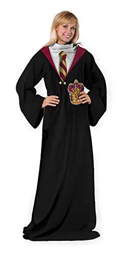 Harry Potter Comfy Throw Blanket with Sleeves, 48 x 71 Inches, Gryffindor Rules - PHUNUZ
