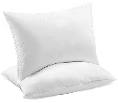 Celeep King Bed Pillows (2-Pack) - Premium Sleeping Pillows - Soft Sand Washed Cover - Hypoallergenic Microfiber Filling - PHUNUZ