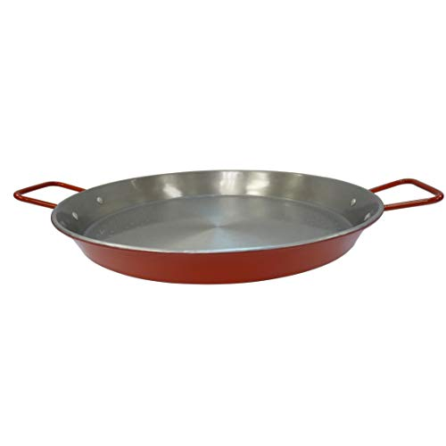 IMUSA USA , Red Paella Pan 15-Inch, 15 Inch