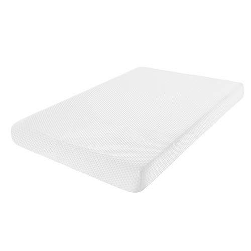 Fitted Memory Foam Pack n Play Mattress Pad Portable Playard Mattresses 38X26x3 with Washable Cover Firm Side for Infants Soft Side for Toddlers - PHUNUZ