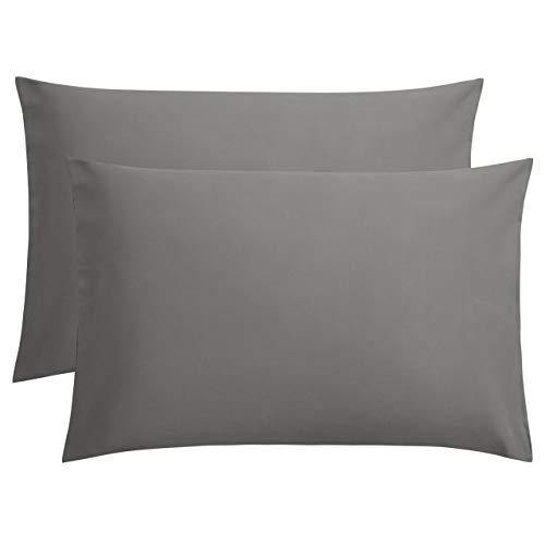 FLXXIE 2 Pack Microfiber Pillowcases, Envelope Closure, Ultra Soft and Premium Quality, 20