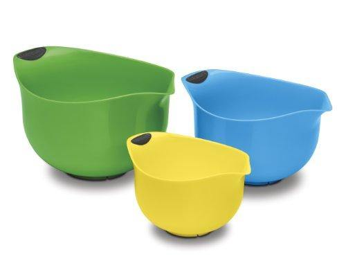 Cuisinart Set of 3 BPA-free Mixing Bowls, Multicolored - PHUNUZ