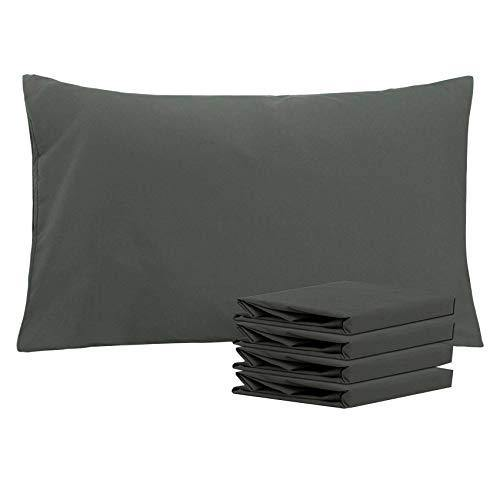 NTBAY 100% Brushed Microfiber Pillowcases Set of 4, Soft and Cozy, Wrinkle, Fade, Stain Resistant, 20