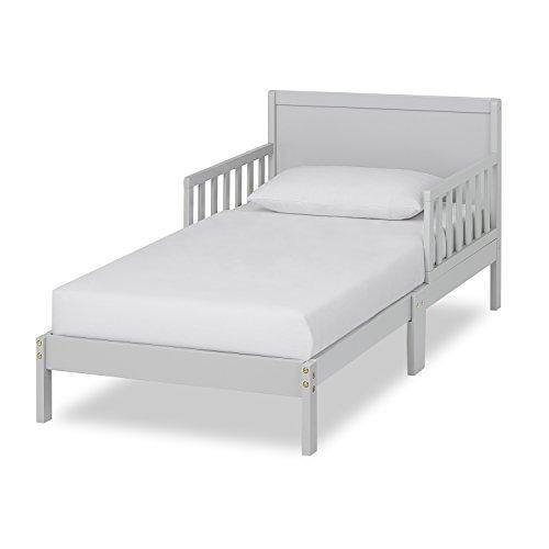Dream On Me Brookside Toddler Bed in Pebble Grey, Greenguard Gold Certified - PHUNUZ