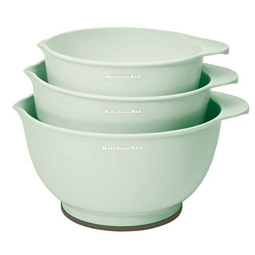 KitchenAid Classic Mixing Bowls, Set of 3, Pistachio - PHUNUZ