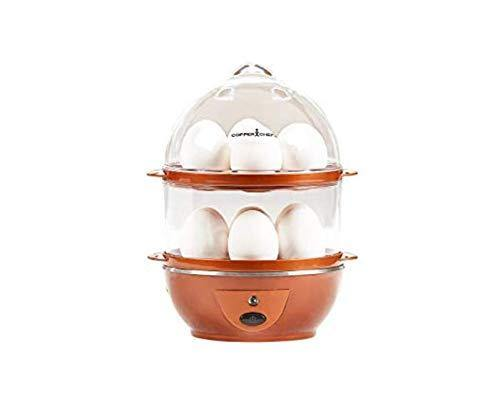 Copper Chef Want The Secret to Making Perfect Eggs & More C Electric Cooker Set-7 or 14 Capacity. Hard Boiled, Poached, Scrambled Eggs, or Omelets Automatic Shut Off, 7.5 x 6.7 x 7.5 inches, Rojo - PHUNUZ