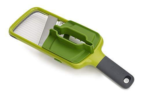 Joseph Joseph Multi Hand-held Mandoline Slicer with Food Grip and Adjustable Blades Dishwasher Safe, One-size, Green - PHUNUZ