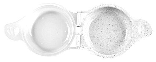 Good Living Microwave Egg Muffin Breakfast Sandwich Pan for Eggs in a Minute or Less, 1-pack - PHUNUZ