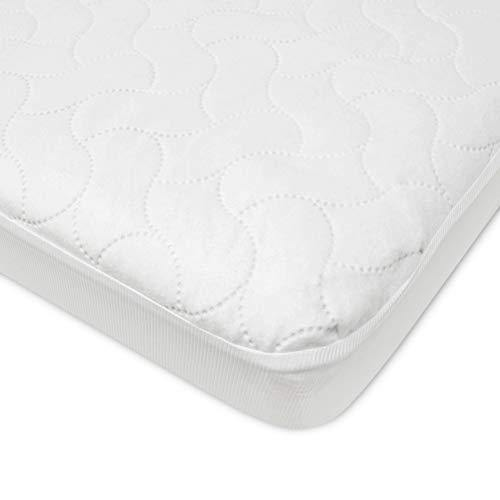 American Baby Company Waterproof Fitted Crib and Toddler Protective Mattress Pad Cover, White (Pack of 1), for Boys and Girls - PHUNUZ