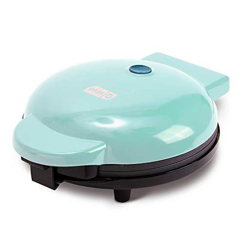 "Dash DEWM8100AQ Express 8"" Waffle Maker Machine for Individual Servings, Paninis, Hash browns + other on the go Breakfast, Lunch, or Snacks, 8 Inch, Aqua - PHUNUZ"
