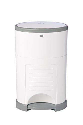 Dekor Mini Hands-Free Diaper Pail | White | Easiest to Use | Just Step – Drop – Done | Doesn't Absorb Odors | 20 Second Bag Change | Most Economical Refill System - PHUNUZ