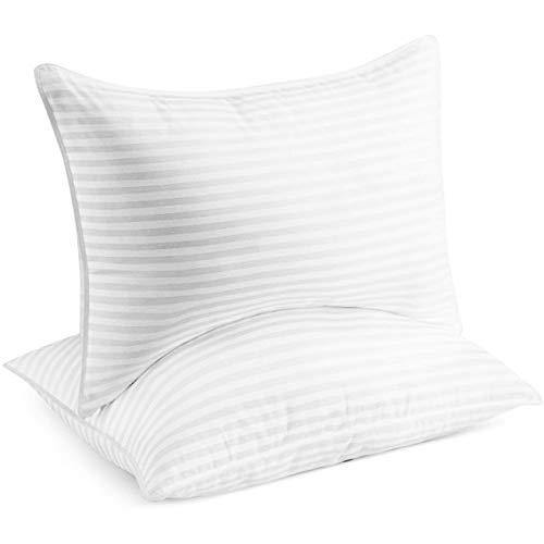 Beckham Hotel Collection Gel Pillow (2-Pack) - Luxury Plush Gel Pillow - Dust Mite Resistant & Hypoallergenic - Queen - PHUNUZ