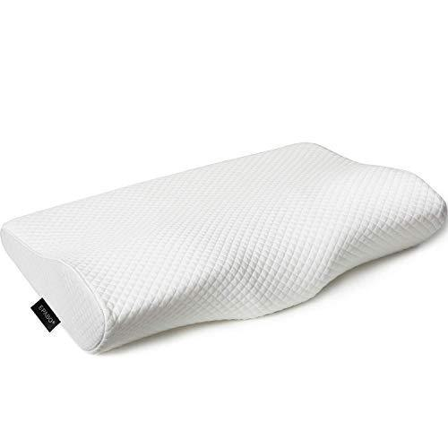 EPABO Contour Memory Foam Pillow Orthopedic Sleeping Pillows, Ergonomic Cervical Pillow for Neck Pain - for Side Sleepers, Back and Stomach Sleepers, Free Pillowcase Included ( Firm & Queen - PHUNUZ