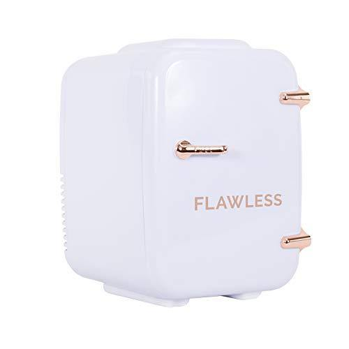 Finishing Touch Flawless Mini Beauty Fridge for Makeup and Skincare, White, 4 Liter - PHUNUZ