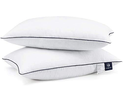 SUMITU Bed Pillows for Sleeping 2 Pack Standard Size 20 x 26 Inches, Hypoallergenic Pillow for Side and Back Sleeper, Soft Hotel Gel Pillows Set of 2, Down Alternative Cooling Pillow - PHUNUZ