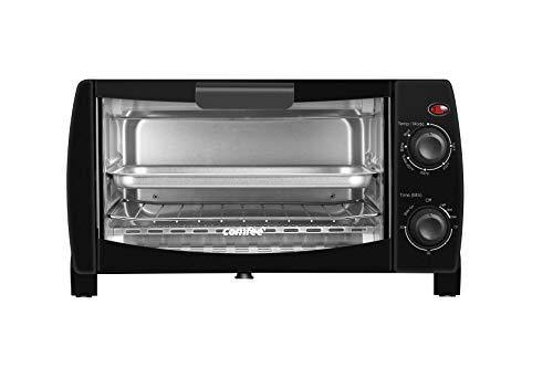 COMFEE' Toaster Oven Countertop, 4-Slice, Compact Size, Easy to Control with Timer-Bake-Broil-Toast Setting, 1000W, Black (CFO-BB101) - PHUNUZ