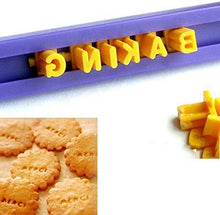 Load image into Gallery viewer, Tool Gadget Cookie Stamps, 2 Pack Number Alphabet Stamps for Cookie, Biscuit, Fondant - PHUNUZ