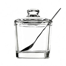 Load image into Gallery viewer, Classic Clear Glass Sugar Bowl Set with Lid Serving Spoon Salt Pot Pepper Storage Jar Seasoning Pot Dispenser Container Sugar Box Condiment Spice Racks Holder for Home Kitchen