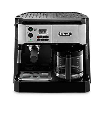 De'Longhi BCO430BM All-in-One Combination Maker & Espresso Machine + Advanced Milk Frother for Cappuccino, Latte & Macchiato + Glass Coffee Pot 10-Cup
