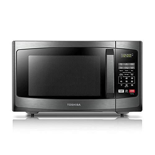 Toshiba EM925A5A-BS Microwave Oven with Sound On/Off ECO Mode and LED Lighting, 0.9 Cu. ft/900W, Black Stainless Steel - PHUNUZ