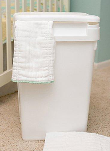 Natural Baby Sturdy Plastic Easy to Clean Flip Top Cloth Diaper Pail or Trash Can - PHUNUZ