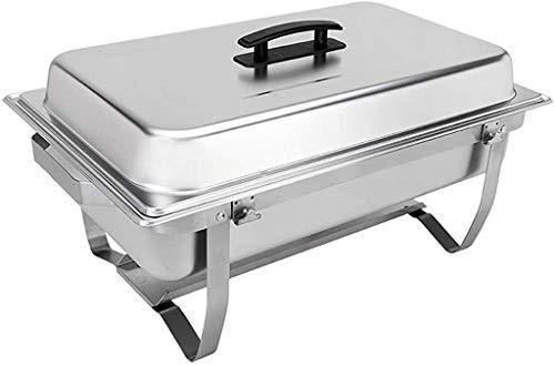 Sterno Foldable Frame Buffet Chafer Set, 8 quart, Silver - PHUNUZ