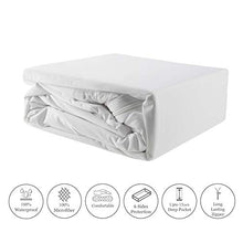 Load image into Gallery viewer, Mea Cama Zipped Mattress Encasement - 6 Sides Waterproof, Dust Mite, Bed Bug Proof - Fits Upto 15 inches (Queen)