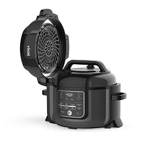 Ninja OP302 Foodi 9-in-1 Pressure, Broil, Dehydrate, Slow Cooker, Air Fryer, and More, with 6.5 Quart Capacity and 45 Recipe Book, and a High Gloss Finish - PHUNUZ