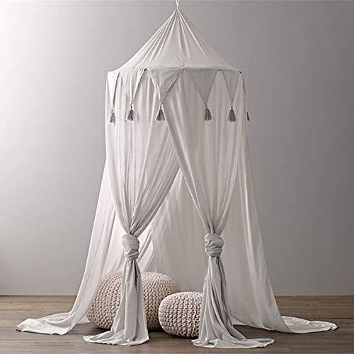 Borje Bed Canopy Mosquito Net Round Dome Reading Nook Kids Play Tent Room Decoration for Baby Toddler - PHUNUZ