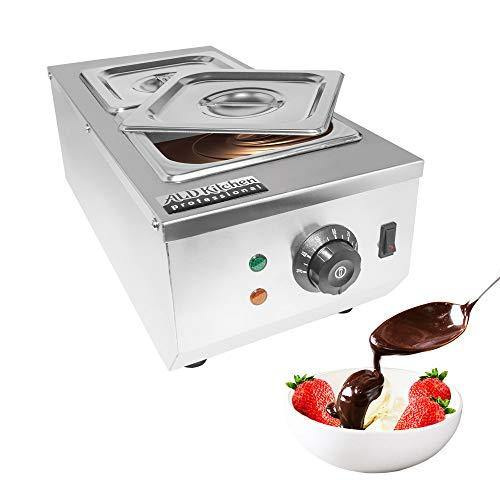 ALDKitchen Chocolate Melting Pot | Manual Control Chocolate Melter for Home or Bakery Use | 2 Tanks for 4 kg of Tempered Chocolate | 110V | 1kW - PHUNUZ