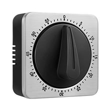 Load image into Gallery viewer, KeeQii Timer Kitchen Timer 60 Minute Timing with 80dB Alarm Sound Magnetic Countdown Timer Home Baking Cooking Steaming Manual Timer Stainless Steel Face Mechanical Timer (New Timer)