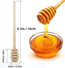 Load image into Gallery viewer, GIYOMI Wooden Honey Dipper Stick for Honey Jar Dispense Drizzle Honey,2 Pcs 6.3 Inch / 16cm Honey Dippers Sticks-Honeycomb Stick-Wooden Honey Spoon