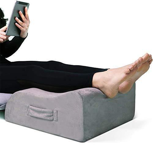 Leg Elevation Pillow, LightEase Memory Foam Leg Elevating Support Wedge Pillow for Sleeping, Reading, Rest, Surgery, Injury, Relieve Back Hip Knee Pain, Improve Blood Circulation, Reduce Swelling - PHUNUZ