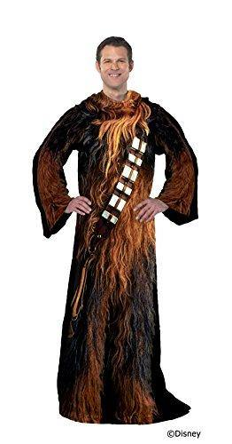 Star Wars Comfy Throw Blanket with Sleeves, Adult-48 x 71 Inches, Being Chewie - PHUNUZ