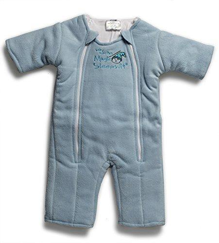 Baby Merlin's Magic Sleepsuit - Swaddle Transition Product - Microfleece - Blue - 6-9 months - PHUNUZ