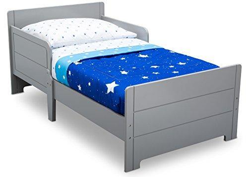 Delta Children MySize Toddler Bed, Grey - PHUNUZ