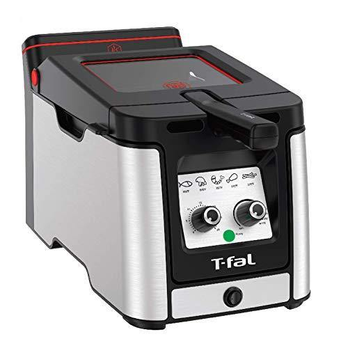 T-fal Odorless Stainless Steel lean Deep Fryer with Filtration System, 3.5-Liter, Silver - PHUNUZ