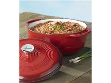 Load image into Gallery viewer, Lodge Enameled Cast Iron Dutch Oven With Stainless Steel Knob and Loop Handles, 6 Quart, Red