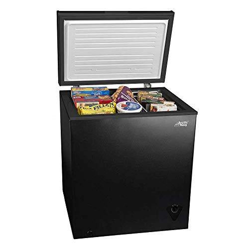 5 cu ft Chest Freezer for Your House, Garage, Basement, Apartment, Kitchen, Cabin, Lake House, Timeshare, or Business - PHUNUZ